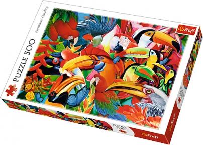 Пазл Цветные птички 500 эл