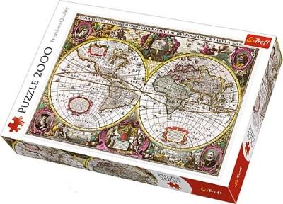 Пазл Древняя карта мира 1630 года 2000 эл