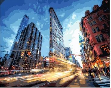 Картина по номерам Городская жизнь 40 х 50 см Brushme