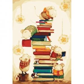 Картина по номерам Маленькие читатели 35*50 см КНО4111 Идейка