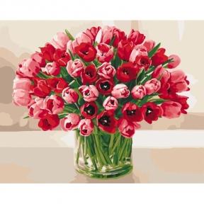 Картина по номерам Жгучие тюльпаны КНО3058 Идейка