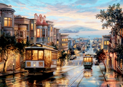 Пазл Небесные трамваи 1500 эл Anatolian