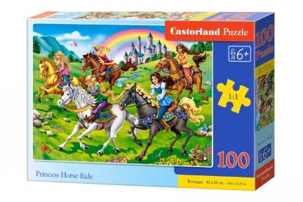 Пазл Принцессы на лошадях 100 эл