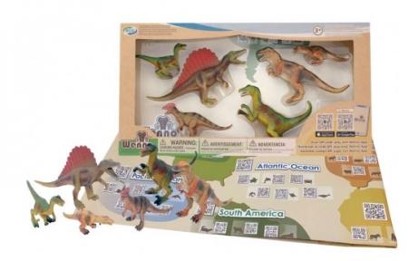Обучающий игровой набор с QR-картой, Хищные Динозавры, Wenno