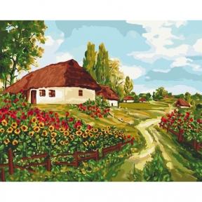 Картина по номерам Украинскими тропами 40 х 50 см КНО2277 Идейка