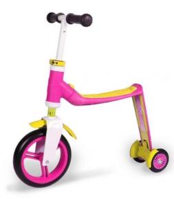 Скутер Scoot and Ride серии Highwaybaby+ розово-желтый, до 3 лет/20кг