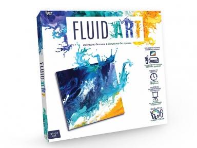 Флюид-арт Интерьерная картина своими руками Морской