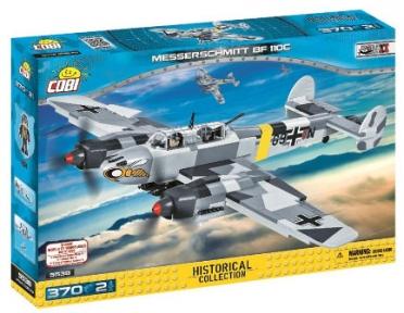 Конструктор COBI Вторая Мировая Война Самолет Мессершмитт BF-110, 370 дет