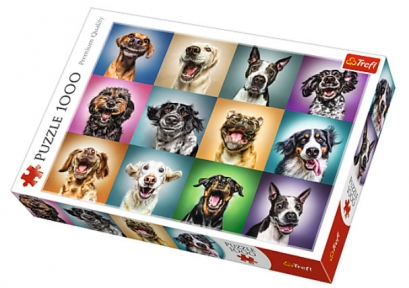 Пазл Веселые портреты собак 1000 эл