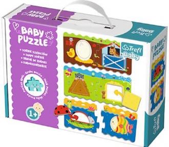 Пазлы для малышей 3 в 1 Сортируем по форме Baby Classic