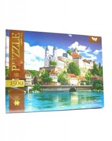 Пазл Замок Аарбург в Швейцарии 1500 эл