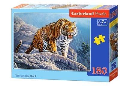 Пазл Тигр рычит на скале 180 эл