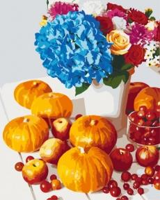 Картина по номерам Осенний натюрморт с тыквой 40х50 см Brushme