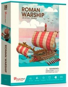 Трехмерная головоломка-конструктор Римский Боевой корабль, CubicFun
