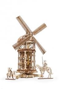 3D Пазлы Механическая модель Башня Мельница 585 дет Ugears