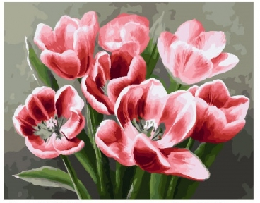 Картина по номерам Красные тюльпаны 40 х 50 см Brushme