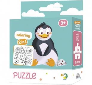 Пазл раскраска Пингвинчик 16 эл макси