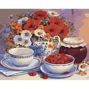 Картина по номерам Приглашение на чай 40 х 50 см КНО2029 Идейка