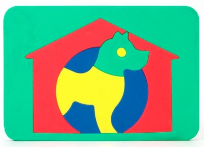 Мозаика Собака мягкая 104 - double