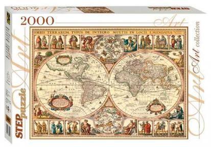 Пазл Историческая карта мира 2000 эл. 84003