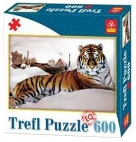 Пазл Тигр в снегах 600 эл 89007 - double