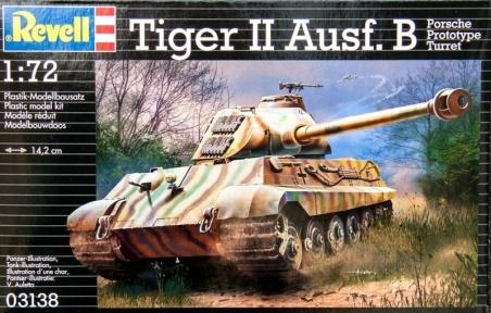 Танк (1944г., Германия) Tiger II Ausf. B (Porsche Prototype Turret), 1:72, Revell 03138