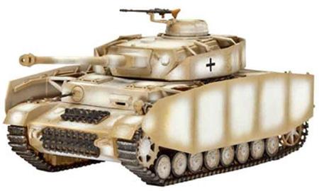 Сборная пластиковая модель Ревелл Танк (1943) PzKpfw. IV Ausf. H; 1:72 03184