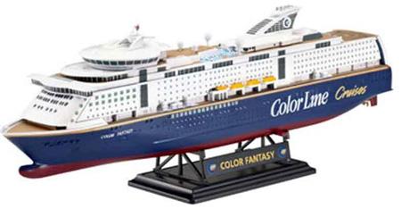 Сборая пластиковая модель Ревел Паром (2004г., Финляндия) M/S Color Fantasy; 1:1200 05810