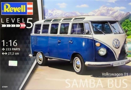 Автобус Volkswagen T1 Samba Bus, 1:16, Revell 07009