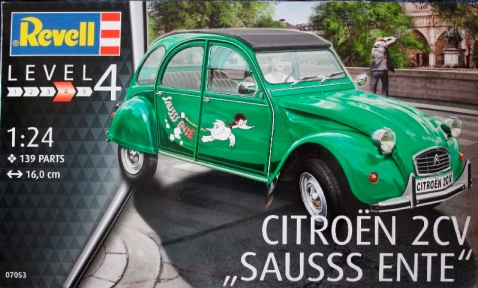 Автомобиль Citroën 2CV Sausss Ente, 1:24, Revell 07053