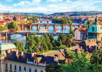 Пазл Чарльз Бридж на реке Влтава в Праге 1000 эл 1000-09-02