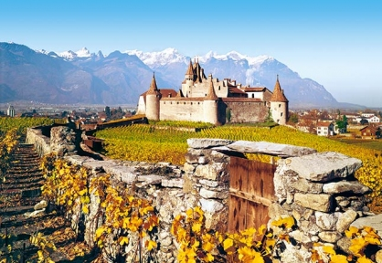 Пазл Замок Игль, Швейцария, 1000 эл. 101924