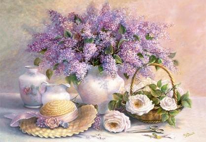 Пазл Цветочный день, копия картины Тришы Хардвик, 1000 эл 102006