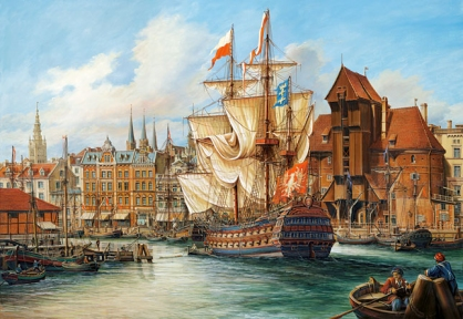 Пазл Старый Гданськ копия картины, 1000 эл 102914
