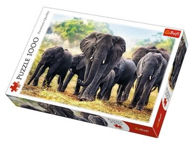 Пазл Африканские слоны 1000 эл 10442