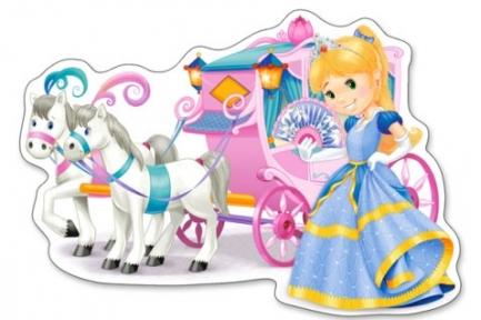 Пазл 12 макси эл Карета для принцессы B-120017