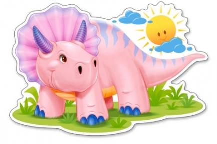 Пазл 12 макси эл Розовый динозаврик B-120048