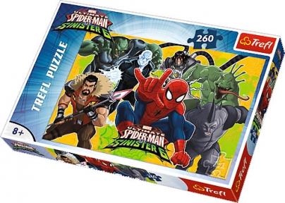 Пазл Человек паук в действиии 260 эл 13218