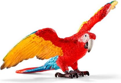 Красно-желтый ара - игрушка-фигурка, Schleich 14737