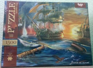 Пазл Морская битва на закате 1500 эл 1500-02-10