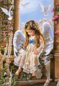 Пазл Нежная любовь, картина Сандры Кук 1500 эл 151165