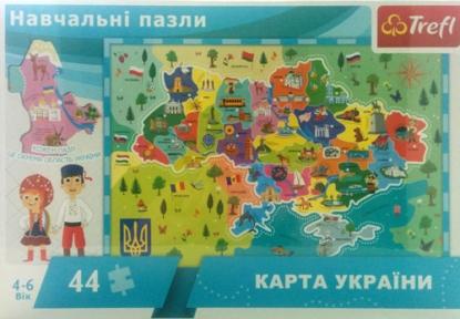 Пазл Карта Украины 44 эл укр.яз. 15532