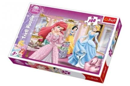 Пазлы для девочек Принцессы Приготовление к балу 100 эл 16186