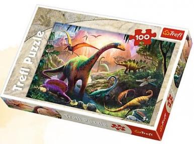 Пазл Мир динозавров 100 эл 16277