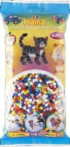 Набор цветных бусин 6.000 шт. 10 цветов 205-00