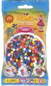 Набор цветных бусин 1000 шт 10 цветов 207-00