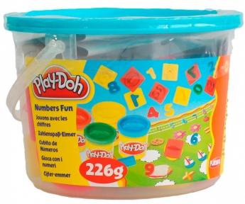 Ведерко пластилина с формочками Считалочка, Play-Doh, счет 23414-3