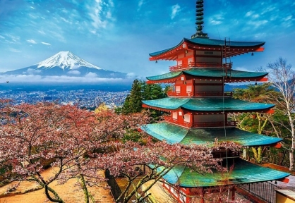 Пазл Вид на гору Фудзияма 1500 эл 26132