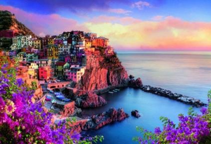 Пазл Вид на город Манарола в Италии 1500 эл 26137