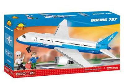 Самолет Боинг 787 Dreamliner 600 деталей COBI-26600